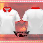 Áo thun Schombur - đồng phục công ty Áo thun đồng phục nhân viên. áp thun cổ trụ bo đỏ, thiết kế phù hợp với màu sắc thương hiệu. Sự hiện diện của logo trên nền áo trắng tinh tế là nét đẹp dễ chịu từ áo thun đồng phục mà khách hàng đã lựa chọn khi đến với aothundongphuc.net