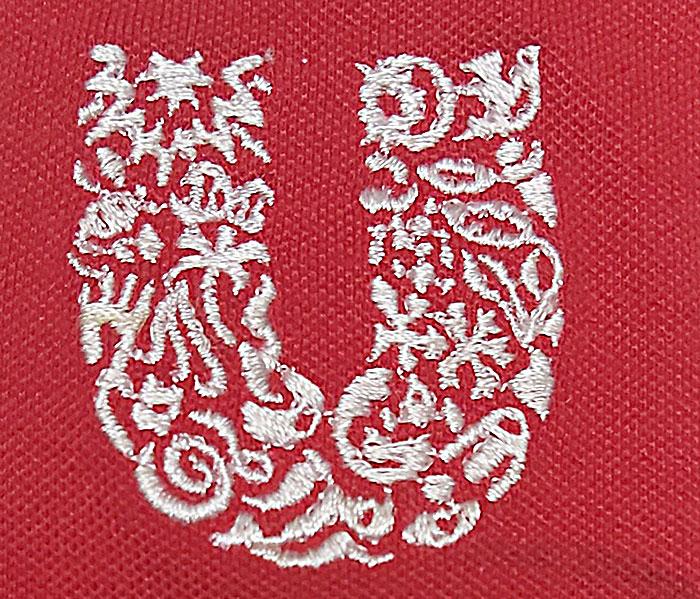 Mẫu logo thêu đồng phục áo thun công ty Unilever