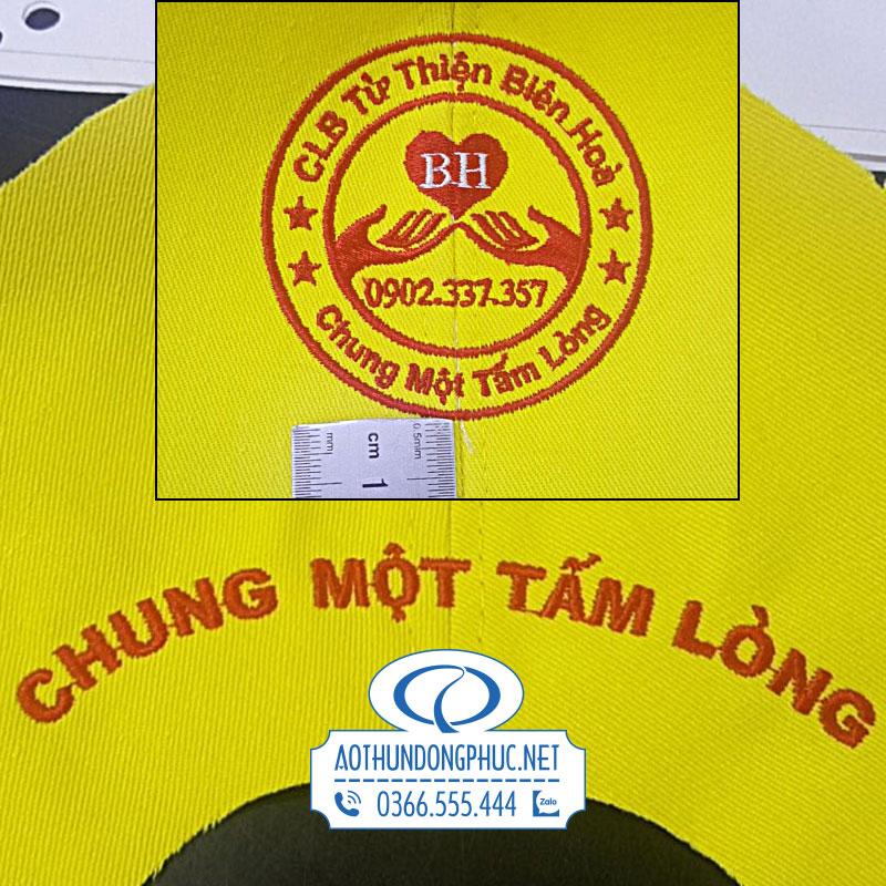 Thêu đồng phục áo và nón nhóm từ thiện Tp Biên Hòa