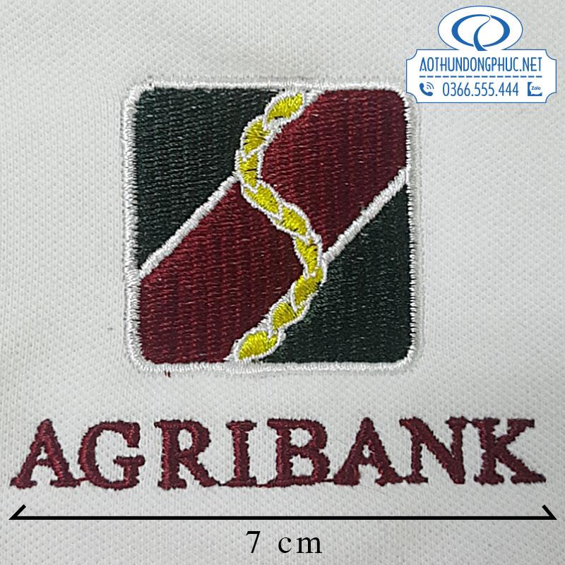 Thêu logo áo đồng phục Agribank