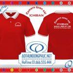 In áo thun đồng phục nhân viên bán hàng shop camera ICHIBAN Quận 4Công ty may in thêu áo đồng phục giá rẻ theo yêu cầu gốc tận xưởng tại thủ đô Hà Nội và TP.HCM