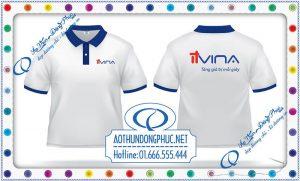 In áo đồng phục công nhân viên văn phòng công ty công nghệ phần mềm IT Vina.Áo thun đồng phục công ty, xưởng in áo đồng phục giá rẻ tại TpHCM - Hà Nội.