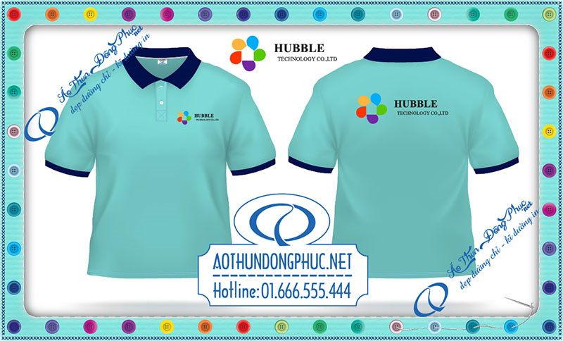 In áo thun đồng phục nhân viên Hubble In áo đồng phục công ty, xưởng in áo thun tại HCM-HN Chuyên nhận in áo thun đồng phục các loại theo yêu cầu từ giá rẻ đến cao cấp