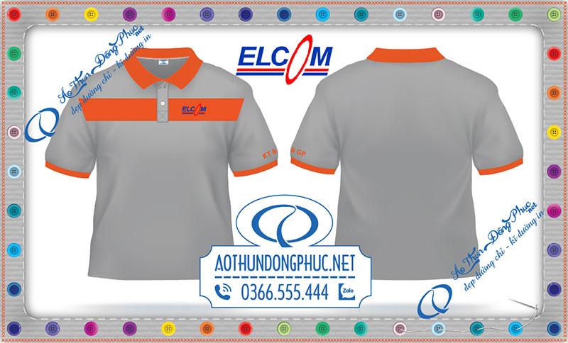 Thêm một mẫu áo thun đồng phục đã đến với nhân viên công ty Elcom.Chỉ cần khách gọi đặt áo đồng phục, dù ở bất cứ đâu áo thun đồng phục giá rẻ cũng đáp ứng về mẫu vải, chất liệu, mẫu hình in áo đồng phục, Phục Đồng luôn sẵn sàng phục vụ khách hàng mọi lúc mọi nơi.Với phương châm công ty may Phục Đồng - Phục vụ cộng đồng quý khách hàng nhận được sản phẩm in áo đồng phục chất lượng bền đẹp, thời gian đúng hẹn cũng như sản phẩm đúng chất lượng cam kết.