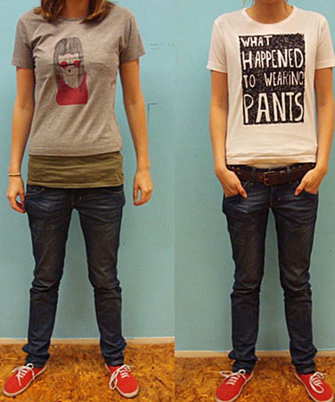 Áo phông đi cùng quần jean dài