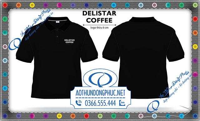 Mẫu áo thêu logo Delistar Coffee
