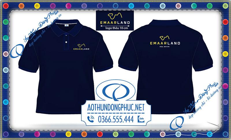 Mẫu logo vi tính áo thun Công ty BĐS Emaar Land