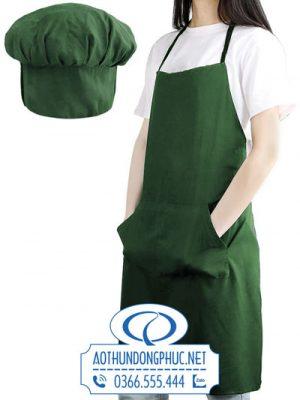 Đồng phục tạp dề yếm kèm nón bếp