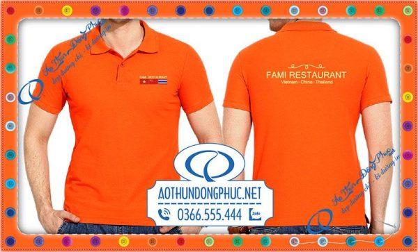 Mẫu áo đồng phục nhà hàng Fami restaurant Vietnam