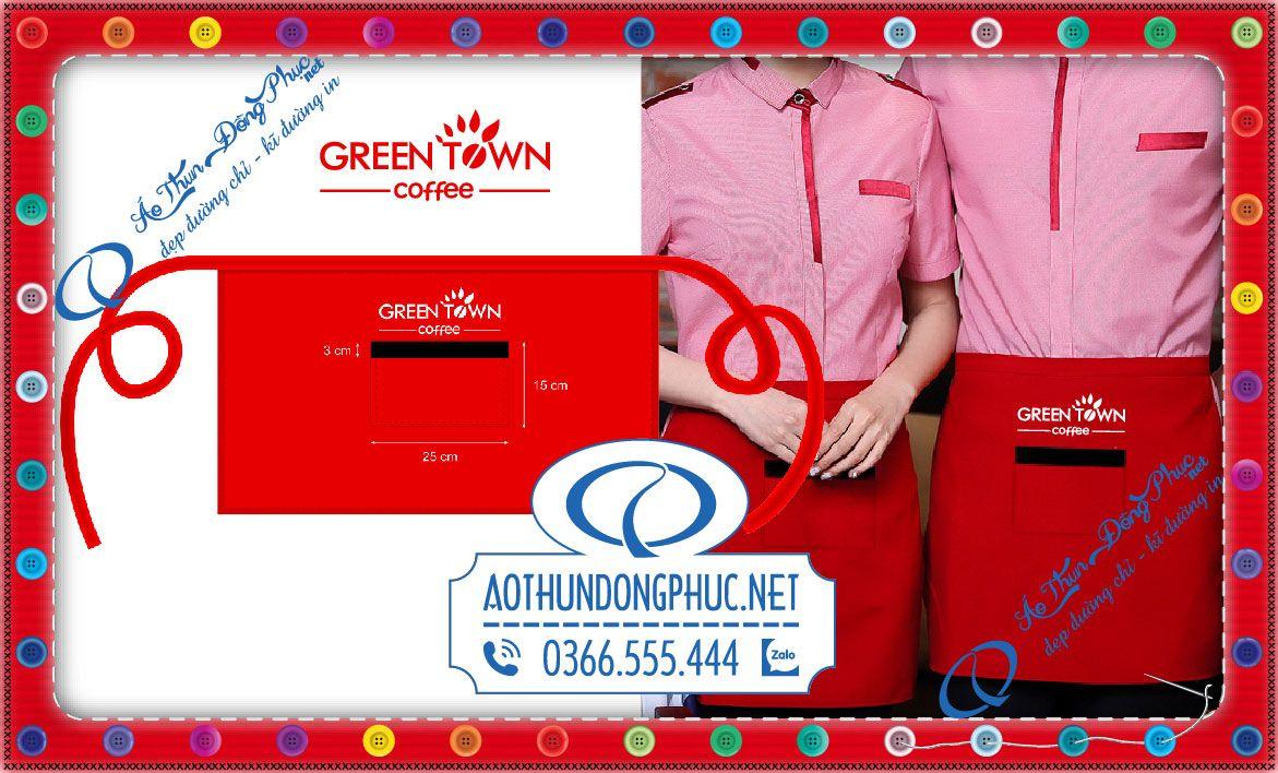 Đồng phục tạp dề phục vụ Green Town Coffee