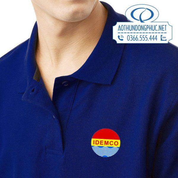 Logo in áo thun đồng phục công ty IDEMCO