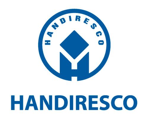 Logo đồng phục in trên áo thun công ty Handiresco