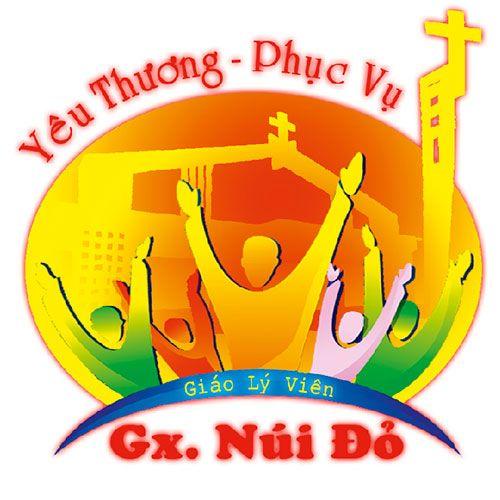 Logo in đồng phục áo thun Công Giáo-Gx Núi Đỏ