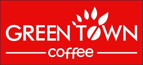 Logo in đồng phục tạp dề phục vụ Green Town Coffee