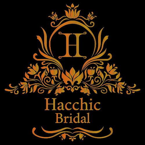 Logo in nhũ đồng tiệm áo cưới Hacchic Bridal