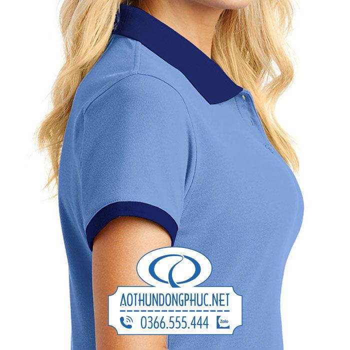 Ảnh chụp mẫu đồng phục áo thun nữ nhân viên công ty Huy Hoàng Color