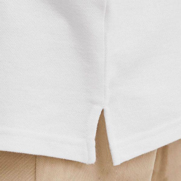 Lai áo xẻ tà của đồng phục áo áo cá sấu