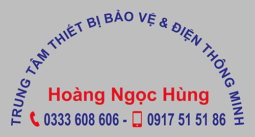 Logo in trên áo đồng phục tập thể nhân viên Hoàng Ngọc Hùng 03