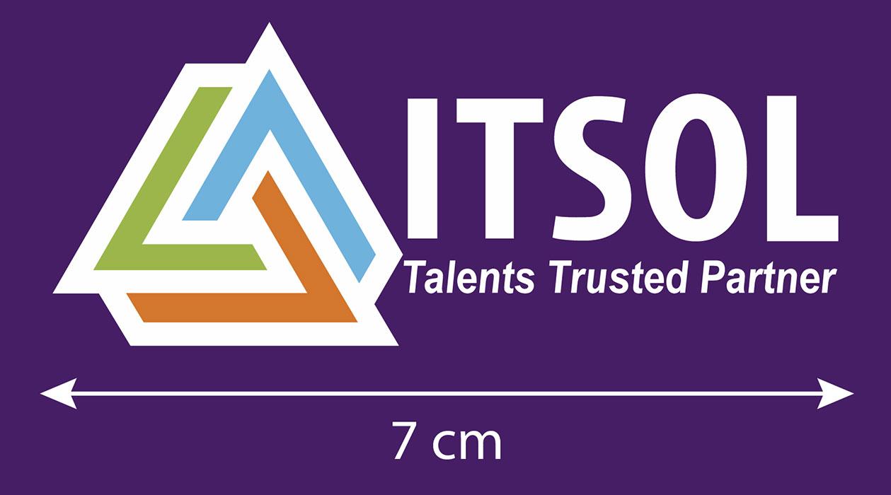 Logo ITSOL in trên đồng phục nhân viên công ty 01