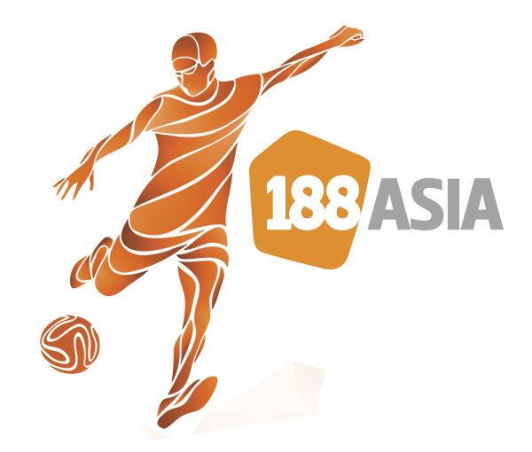 Logo 188 Asian in trên đồng phục đá banh