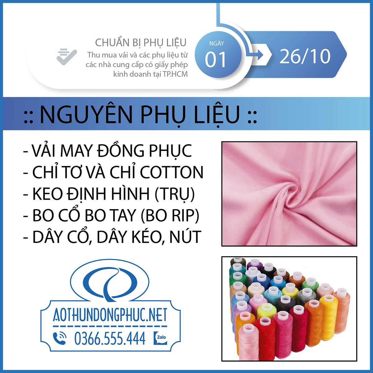 Quy trình các khâu sản xuất đồng phục áo thun bước 1