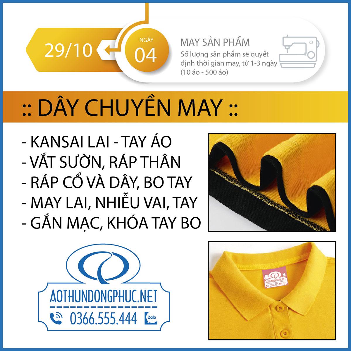 Quy trình các khâu sản xuất đồng phục áo thun bước 4