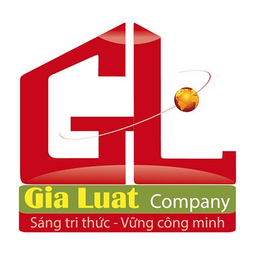 Logo in trên áo thun đồng phục nữ nhân viên công ty Gia Luật