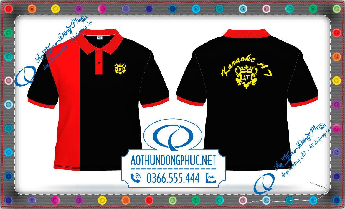 Mẫu thiết kế đồng phục áo thun nhân viên phục vụ quán Karaoke AT