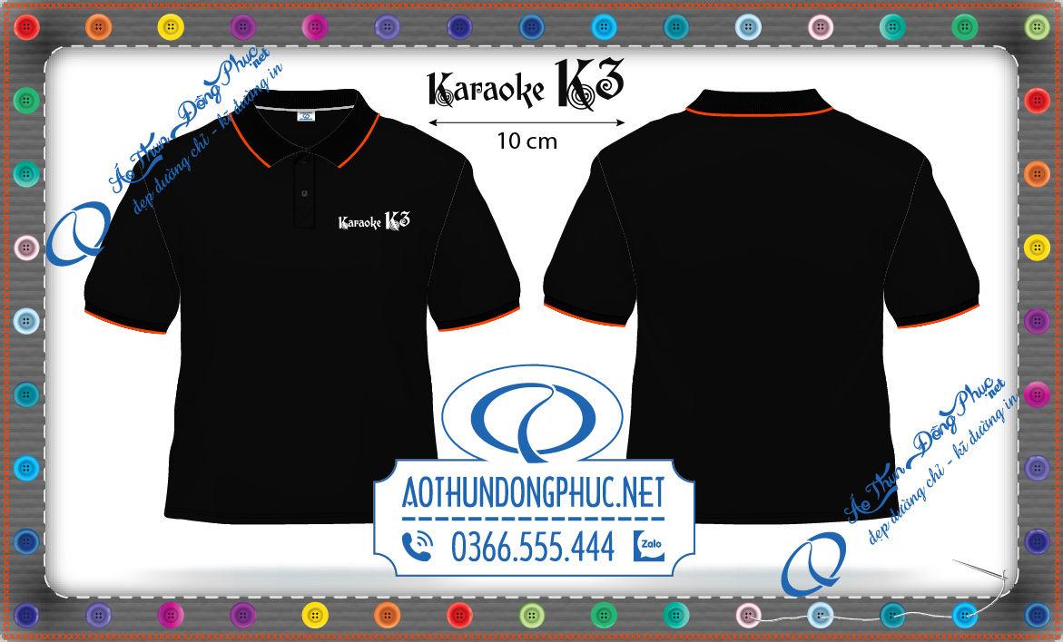 Mẫu thiết kế áo đồng phục nhân viên quán Karaoke K3