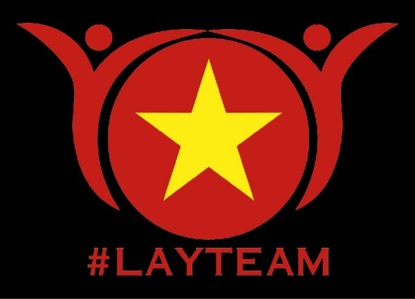 Logo team Lay, in trên đồng phục áo nhóm