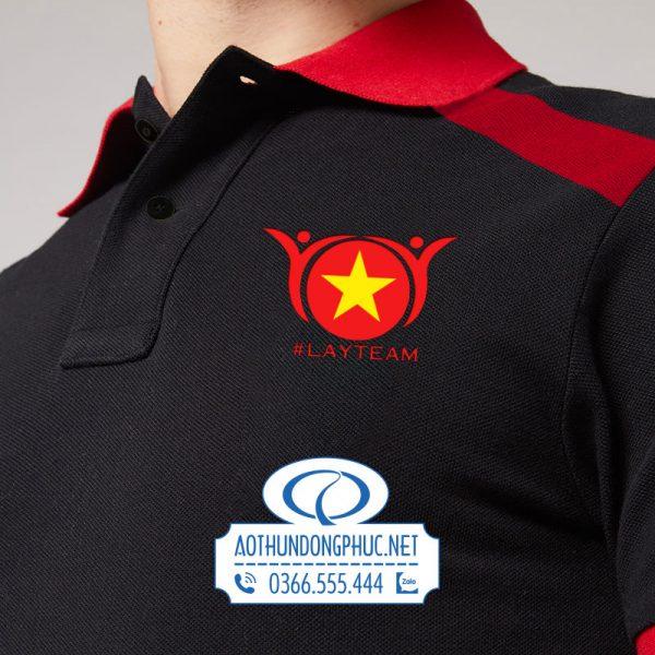 In logo lên đồng phục áo thun nhóm #LayTeam