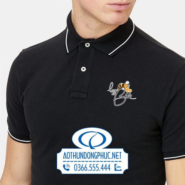 Logo in trên đồng phục áo thun nhân viên trà sữa LazyBee-Thủ Đức
