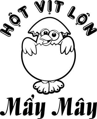 Logo in trên áo đồng phục quán Mẩy Mây 01