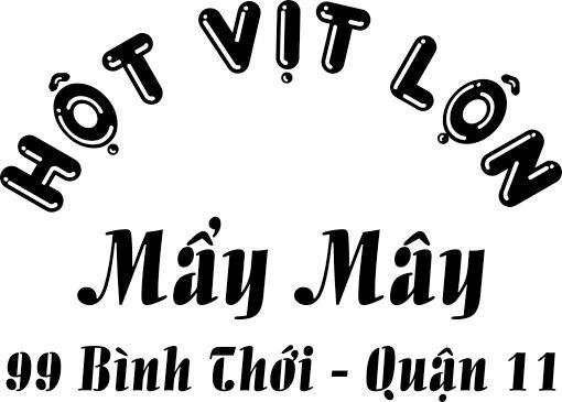 Logo in trên áo đồng phục quán Mẩy Mây 02