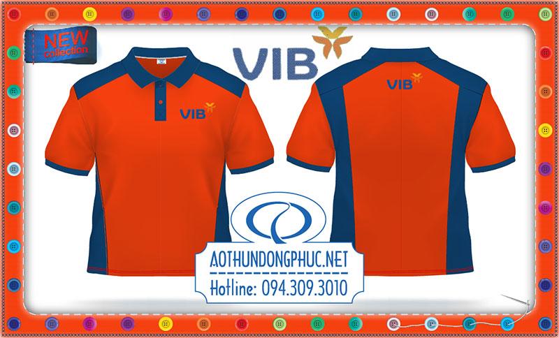 Mẫu áo thun đồng phục mới 2017-thêu áo thun VIBBank