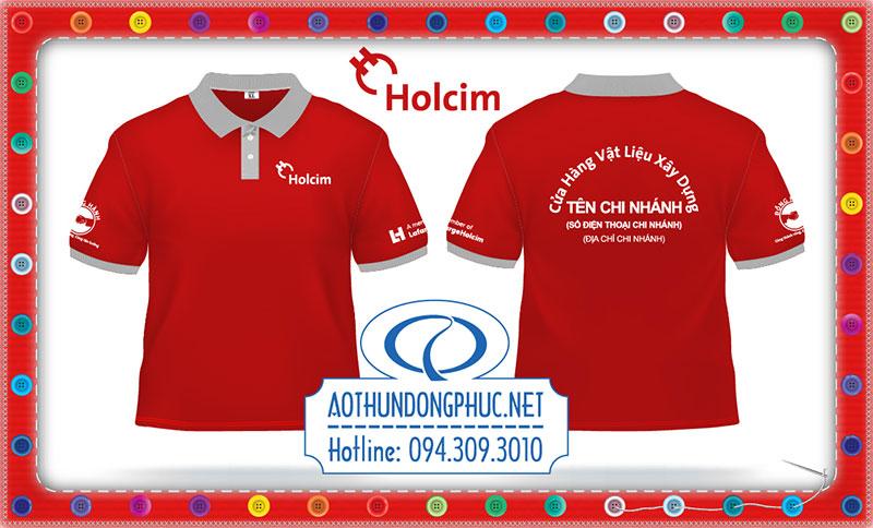 May áo thun chi nhánh tập đoàn Holcim tại Việt Nam