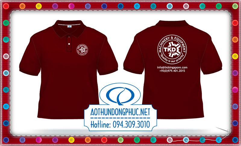 May áo thun đồng phục TKD-Singapore