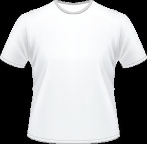 Áo thun trắng cổ tròn