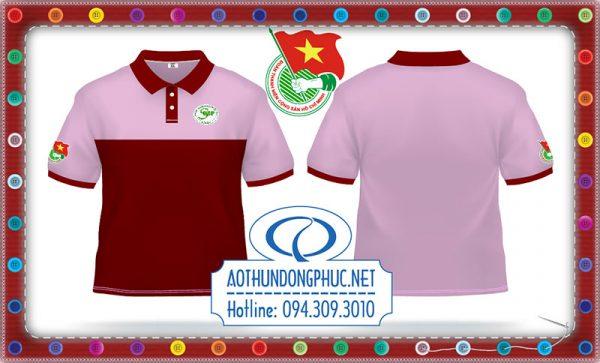 Mẫu áo thun thanh niên tình nguyện Quảng Bình Áo thun có cổ, áo thun đồng phục phối Mẫu áo thun đồng phục tình nguyện viên nữ Áo thun đồng phục chương trình công tác xã hội