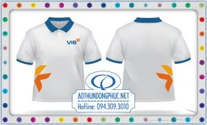 May áo thun đồng phục nhân viên-NH VIB