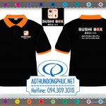 Xưởng may áo thun-đồng phục quán ăn Shushi Box Chuyên may áo thun đồng phục nhân viên công ty, xưởng may uy tín chất lượng giá cả cạnh tranh. Xưởng may áo đồng phục giá rẻ tại TpHCM sẽ làm hài lòng bất kì khách hàng khó tính.