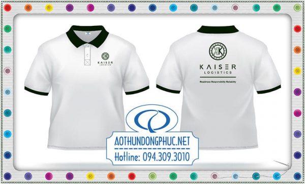 Xưởng may - áo đồng phục nhân viên văn phòng (NVVP) công ty chuyển phát nhanh (CPN) Kaiser Logistics.Áo thun giá gốc tận xưởng, xưởng may áo thun đồng phục giá rẻ tại TpHCM.Xưởng may gia công áo thun số lượng lớn, xưởng in-thêu-may áo thun đồng phục uy tín chất lượng được rất nhiều khách hàng trong và ngoài nước tín nhiệm và đặt may tại xưởng Phục Đồng.