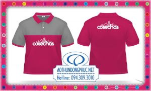 Áo thun đồng phục màu hồng