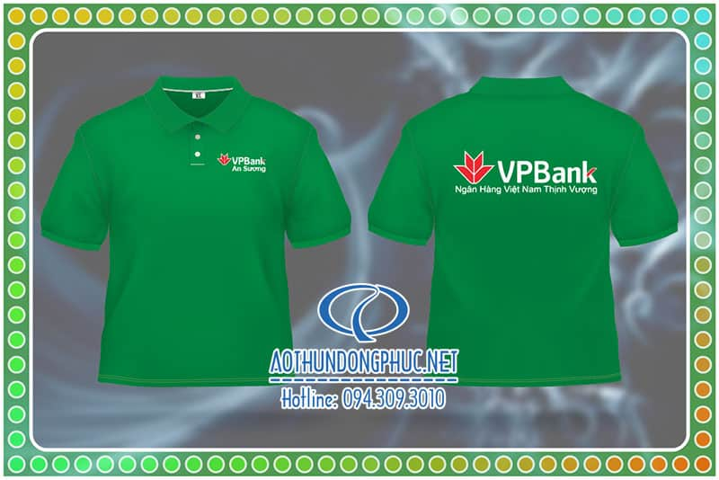 Đồng phục nhân viên giao nhận ngân hàng VPBank. Áo thun đồng phục nhân viên giao hàng chi nhánh ngân hàng VPBank