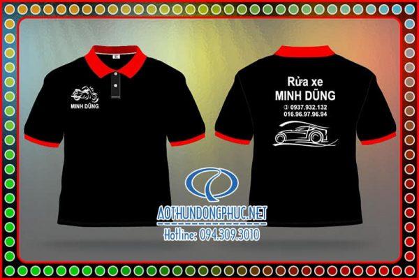 Áo đồng phục Garage Minh Dũng. Áo thun nhân viên rửa xe, đồng phục áo thun nhân viên rửa xe