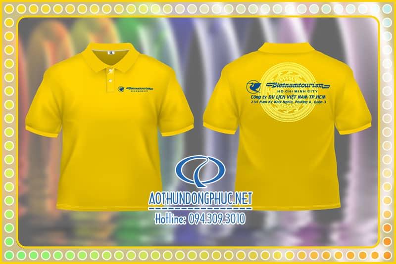 Áo thun du lịch Vietnamtourism Đồng phục du lịch, áo đồng phục thun dã ngoại, áo thun chương trình picnic