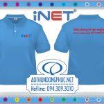 Thêu áo thun đồng phục nhân viên công ty iNET Thêu áo thun theo yêu cầu Thiết kế mẫu thêu áo thun, thêu và may áo thun theo yêu cầu giá rẻ tại TpHCM