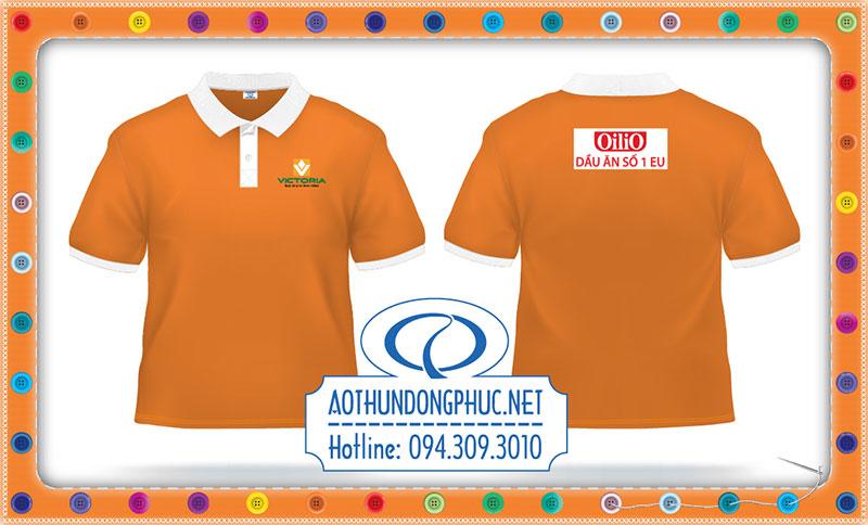Áo thun đồng phục màu cam Ao thun Polo, áo thun đồng phục màu cam. Áo thun cổ bẻ, đồng phục áo thun có cổ May đồng phục áo thun công ty, áo thun nhân viên giao nhận
