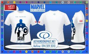 Áo thun Marvel Captain America Áo thun phim, áo thun quảng cáo phim Áo thun nam nữ đẹp, áo thun thời trang đẹp