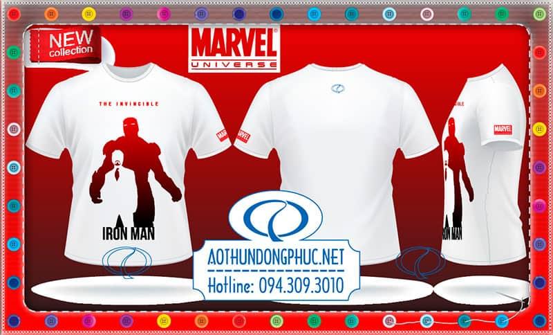 Áo thun phim Iron Man, áo thun hãng MarvelÁo thun siêu nhân, áo thun thời trang ra mắt phim Iron ManÁo phông cổ tròn in chuyển tram áo phông hình siêu nhân, áo thun thời trang nam nữ đẹp